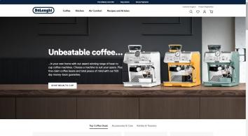 De\'Longhi Coffee Machines, Kitchen Appliances and Comfort Range