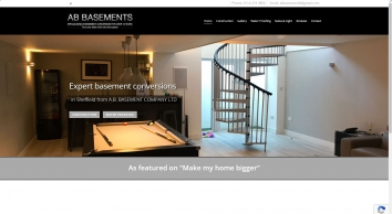 Professional basement services in Sheffield from A.B. Basement Company Ltd