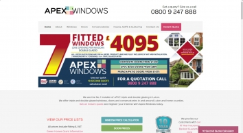 Apex Windows   Windows, Doors & Conservatories   Bedforshire