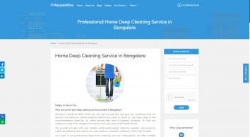 Home Deep Cleaning Services in Bangalore | Aquuamarine