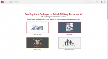 Boxes for Soldiers, supporting British military personnel with care-packages, Army, Navy & RAF
