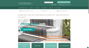 Quality Stair Rods for Runners, Door Thresholds & Flooring Trims