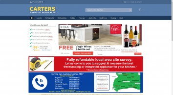 Top Quality Domestic Appliances at Carters. 7 stores in Sussex