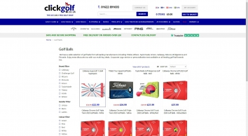 Golf Balls at Clickgolf   Leading Golf Ball Models