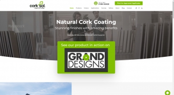 CorkSol UK - Sprayed Cork Coatings | Training Courses Available