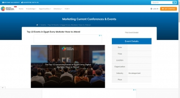 The Top 10 Events in Egypt Every Marketer Have to Attend