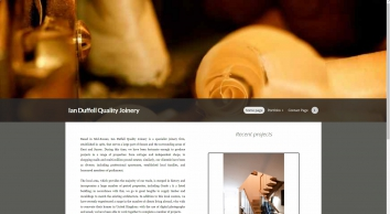 Home page for unique and stunning  Joinery