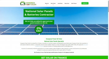 Solar Panels and Batteries Installer in the UK | Price and Cost | Evergreen Power Solar
