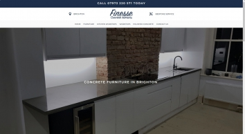 Concrete Furniture in Brighton | Finesse Concrete Interiors