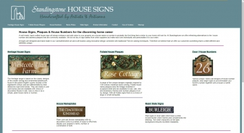 House Signs, Plaques and House Numbers handcrafted by Artists & Artisans