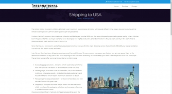Shipping to USA - Shipping to USA from UK and London