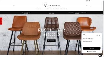 Rustic Furniture   Leather Bar stools   J.N.Rusticus