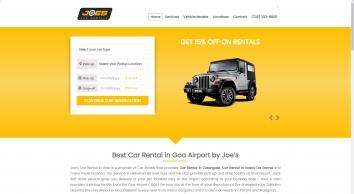 Joes Car Rentals Goa