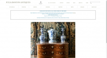 Julia Boston Antiques – London –Specialist dealers in French Antique Furniture, Tapestries, Lighting & Works of Art from the 17th to the  20th century