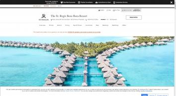Luxury Resort in French Polynesia   The St. Regis Bora Bora Resort