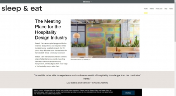 Sleep & Eat - The only edited hospitality design event in Europe. |