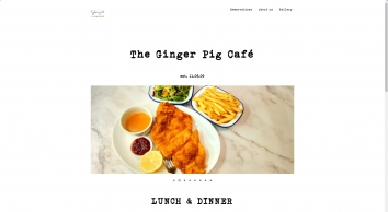 Welcome to The Ginger Pig Café in Hoxton