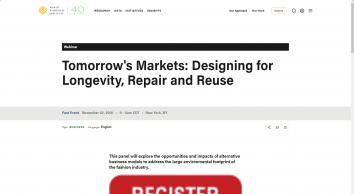 Tomorrow\'s Markets: Designing for Longevity, Repair and Reuse | World Resources Institute