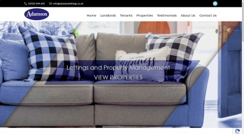 Adamson Lettings & Property Management Ltd  screenshot