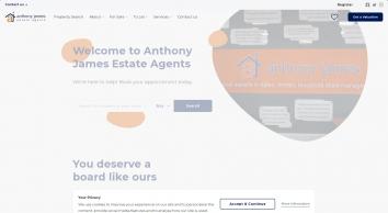 Anthony James Estate Agents screenshot