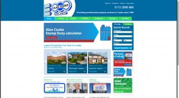 Alan Cooke Estate Agents screenshot