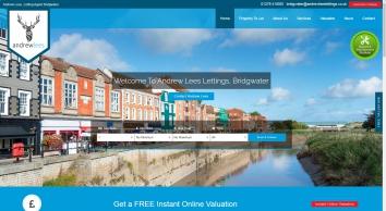 Andrewleeslettings.co.uk, Bridgwater screenshot