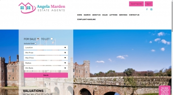 Angela Marden Estate Agents screenshot