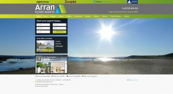 Arran Estate Agents screenshot