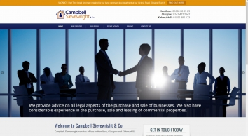 Campbell Sievewright Homes screenshot